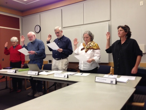Swearing in of new Library Board (cr: Judy Lieberman)